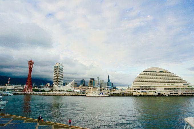 インスタ映えスポット1.ポートタワーと海と観覧車!