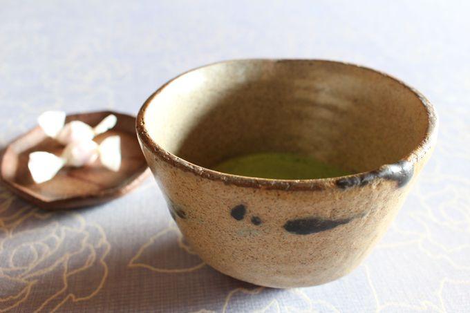 人間国宝の器で抹茶が飲めるなんて〜