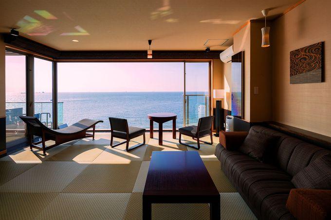 空と海をひとり占めできる特別室「天空」がたまらない