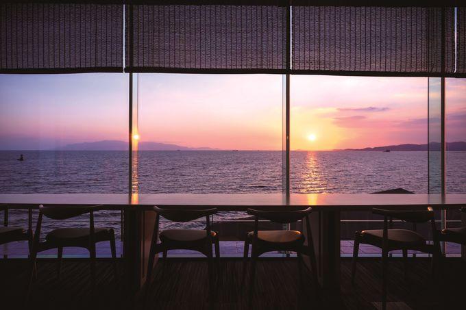絶景ロビー「ロカ岬」からの眺望が抜群