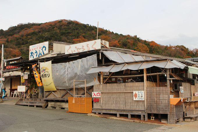 赤穂産牡蠣が水揚げされる坂越湾を望むお店
