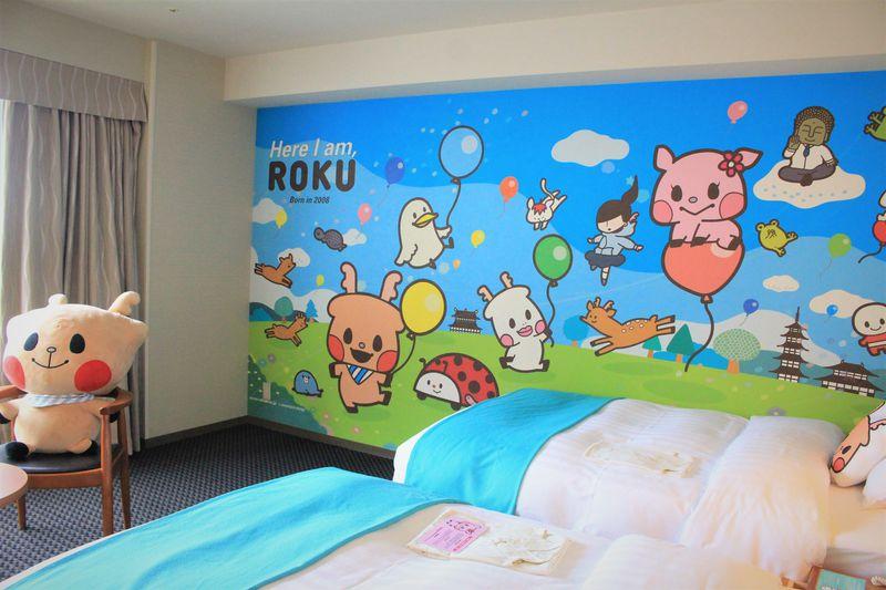 ホテル日航奈良のキャラクタールーム「ROKU」の部屋がかわいすぎる!