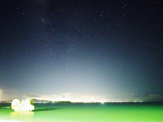 ビーチで花火、そして星空観測しよう!