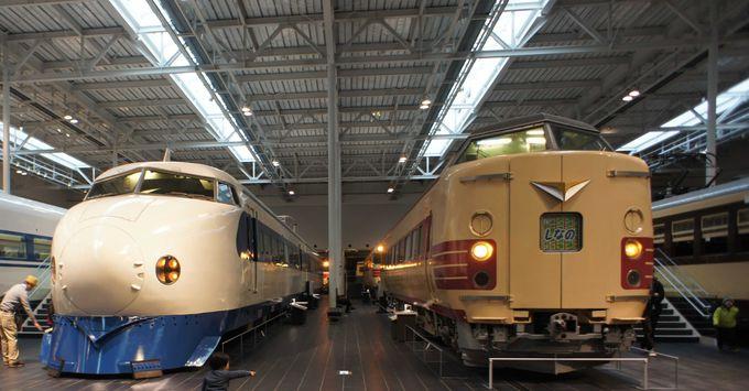 39両の実物車両の展示