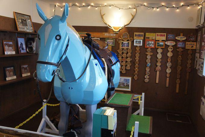 本物の馬に乗った気分を体験「ライディングシュミレータ」