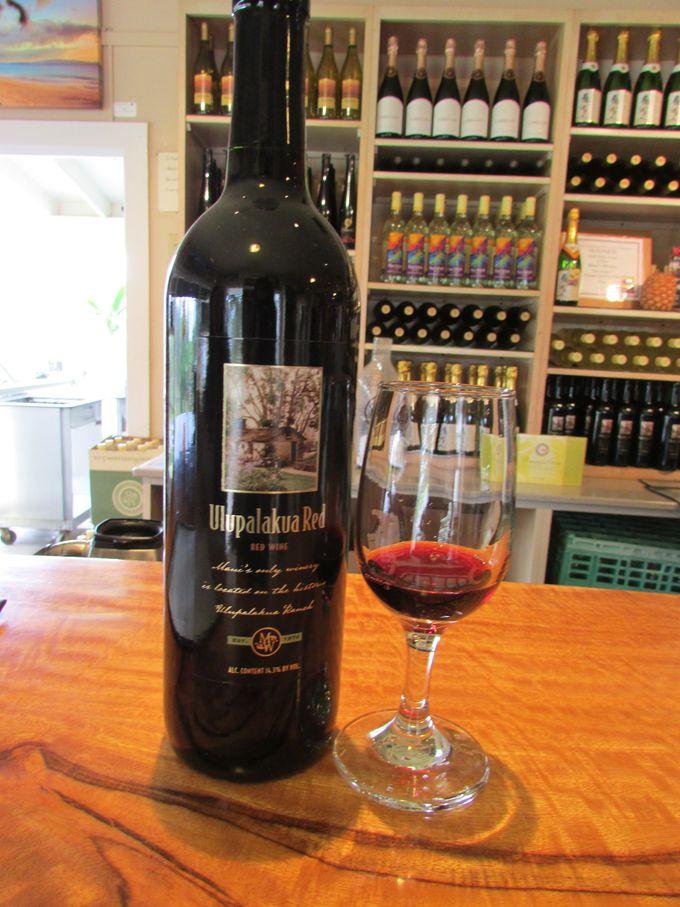マウイ産ぶどうを使った珍しい赤ワイン