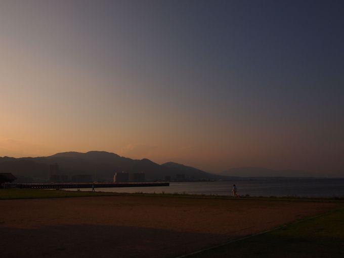 琵琶湖と比叡山の眺望をいっぺんに!