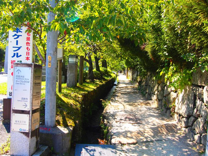 石垣と比叡山の門前の町、坂本