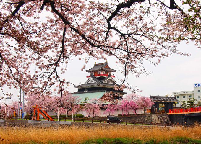 春の清洲城