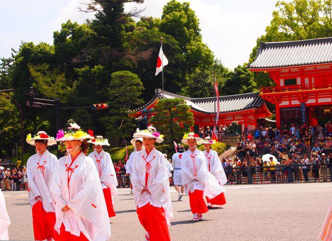 八坂神社・西楼門と神饌行列
