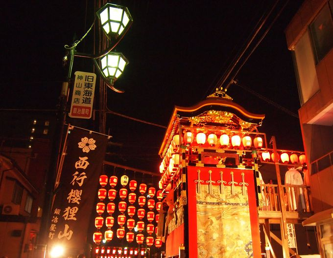 夜の「西行桜狸山」