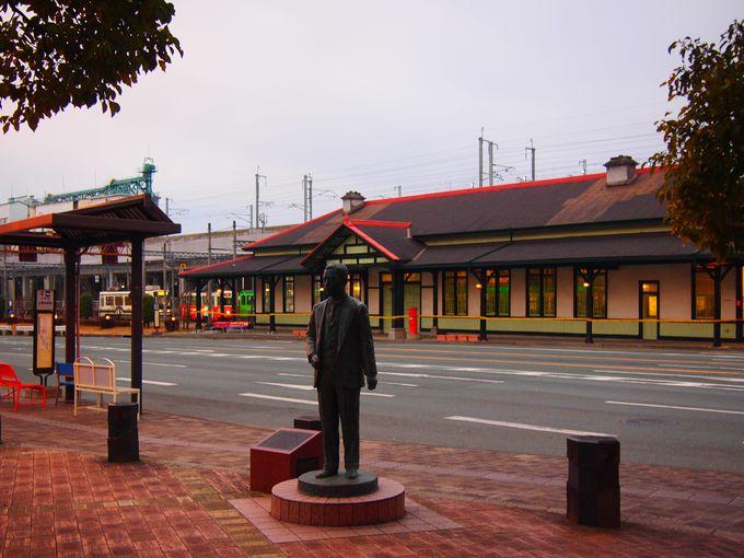漱石が降り立った地「上熊本駅」