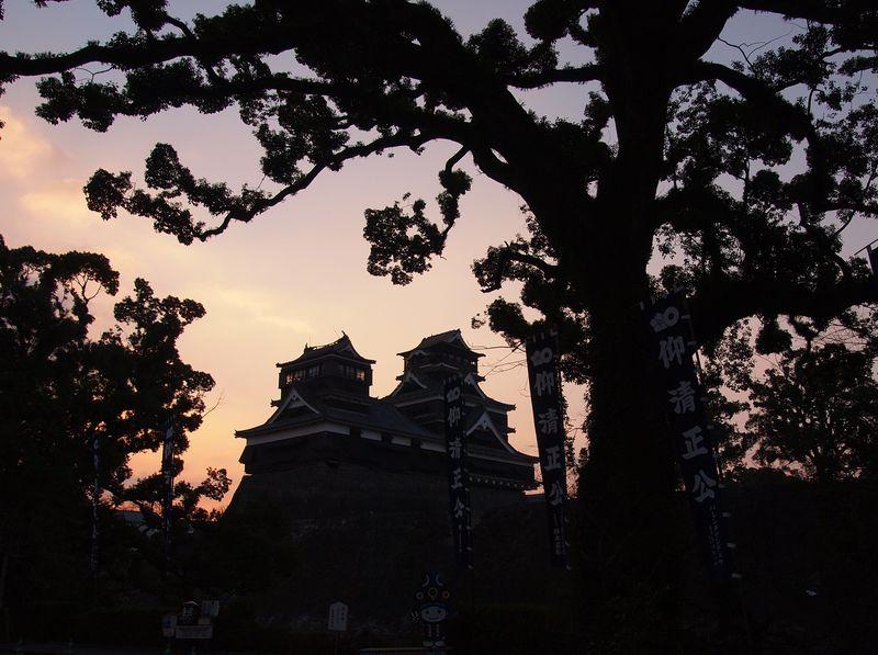 熊本城近望の名所!「加藤神社」から復興の夜明けを眺めよう