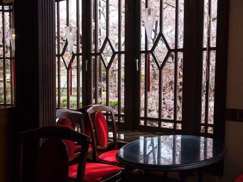 一幅の絵画のような桜景色が楽しめる!京都「喫茶KANO」