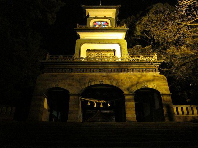 【1日目:夜】「尾山神社」のライトアップへでかけてみよう