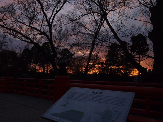 北野天満宮の夕景