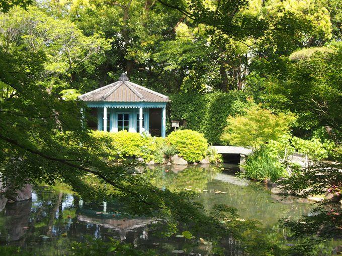 極楽の池と八角亭