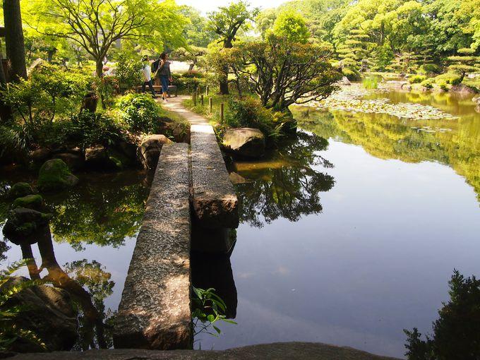 慶沢園・池と水の光景