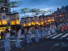 一夜に三つの行列!京都・祇園祭 お迎え提灯・道しらべの儀・神輿洗式