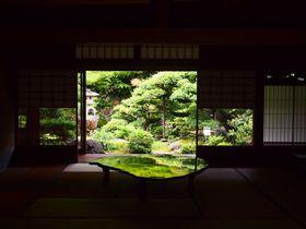京の夏の旅にて公開!「旧邸御室」双ヶ岡を望む庭鏡は必見