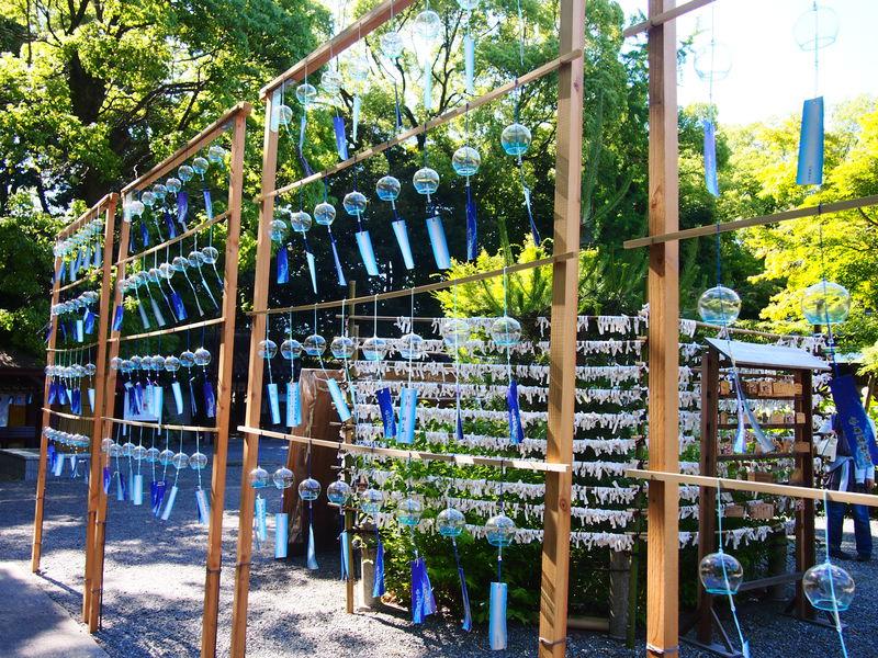 ライトアップも!大阪府島本町「水無瀬神宮」名水と風鈴の涼景色