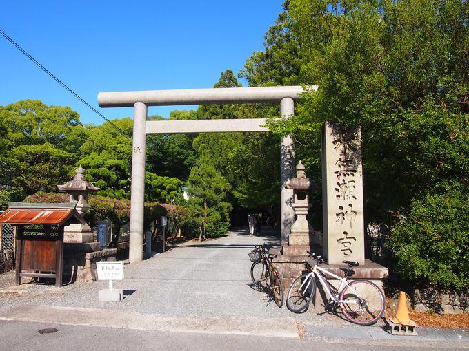 「水無瀬神宮」の鳥居&神門