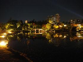 個性派建築と名庭園のライトアップは必見!京都駅近く「渉成園」