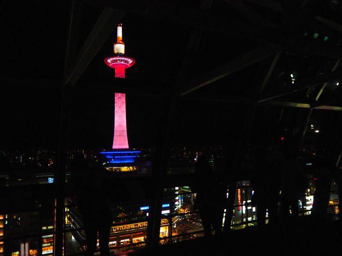 京都タワーも必見!空中径路からの眺め