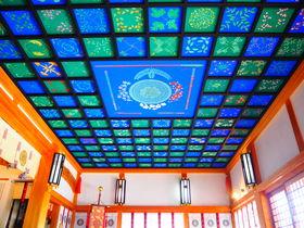 爽やかブルーの天井画に癒される!兵庫・尼崎「水堂須佐男神社」