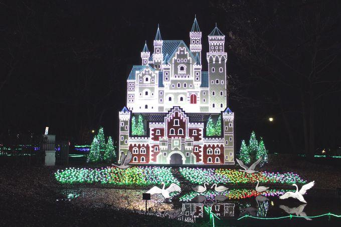 グリム童話の世界がイルミネーションに!栃木県下野市「グリムの森」