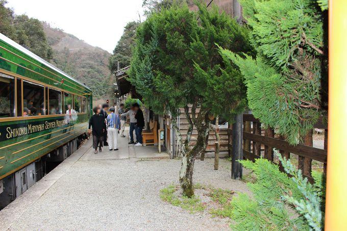 吉野川の渓谷美と秘境駅「坪尻駅」