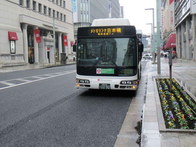 デパートめぐりと無料バス「メトロリンク日本橋」