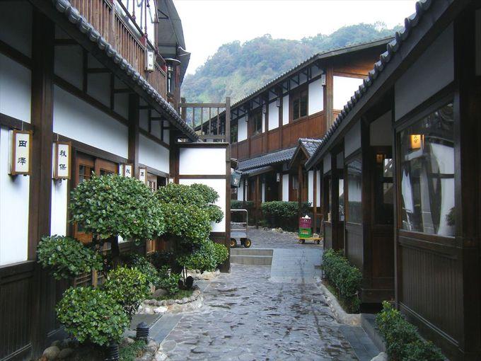 日本風コンセプトの施設も多い