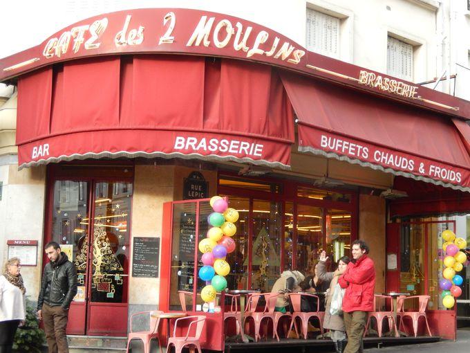 ムーラン・ルージュから程近い主人公アメリが働いていた「カフェ・デ・ドゥー・ムーラン」