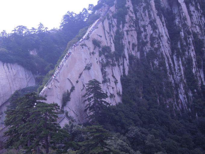 華山のハイライト「蒼龍嶺」