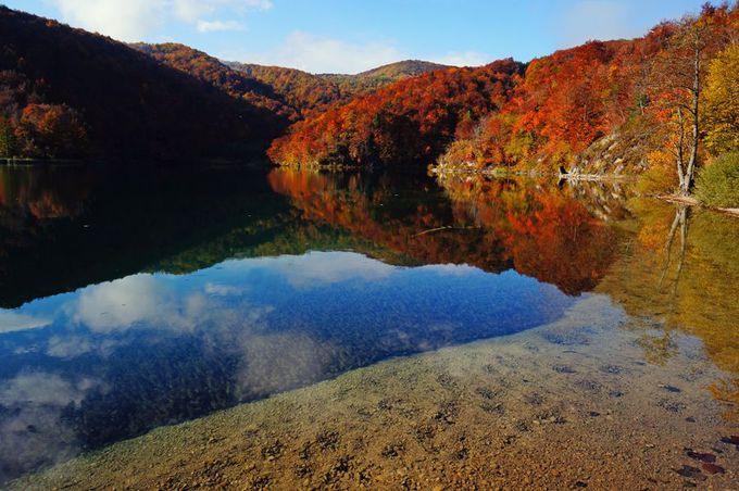 湖に映る水鏡もまた風景写真の醍醐味だ!