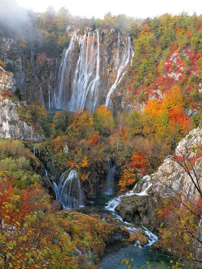プリトヴィツェは世界最高水準の滝と紅葉の撮影スポットだった!