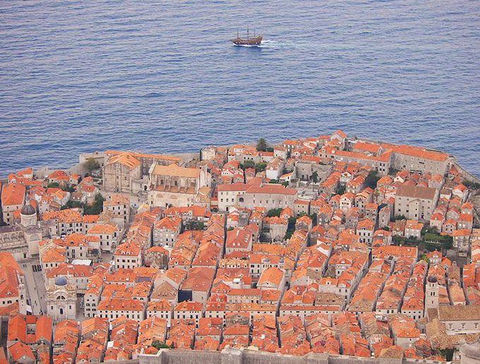 街並みと海を望遠で撮る!