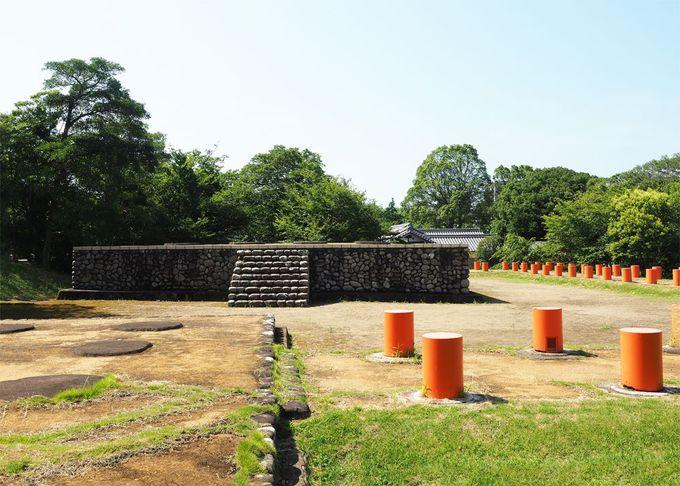 海会寺跡の遺跡に佇む