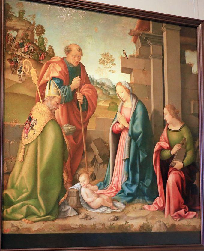 初期ルネサンス絵画も豊富!