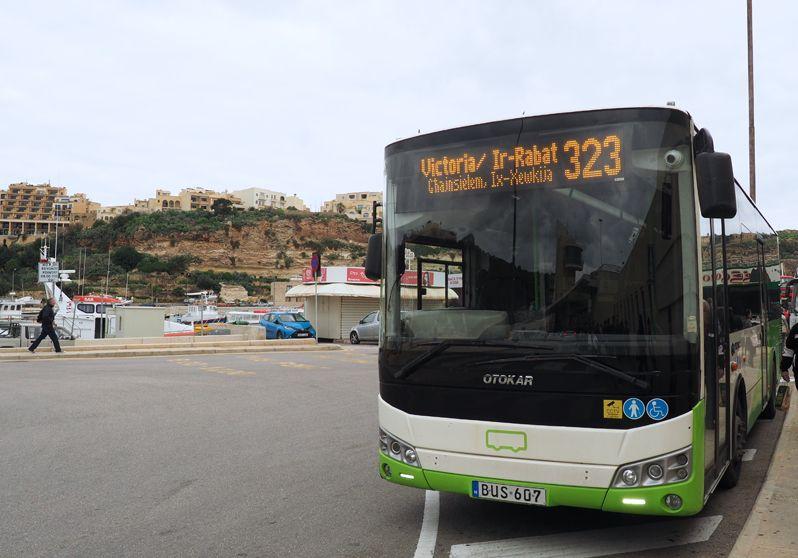 マルタではバス利用が一番