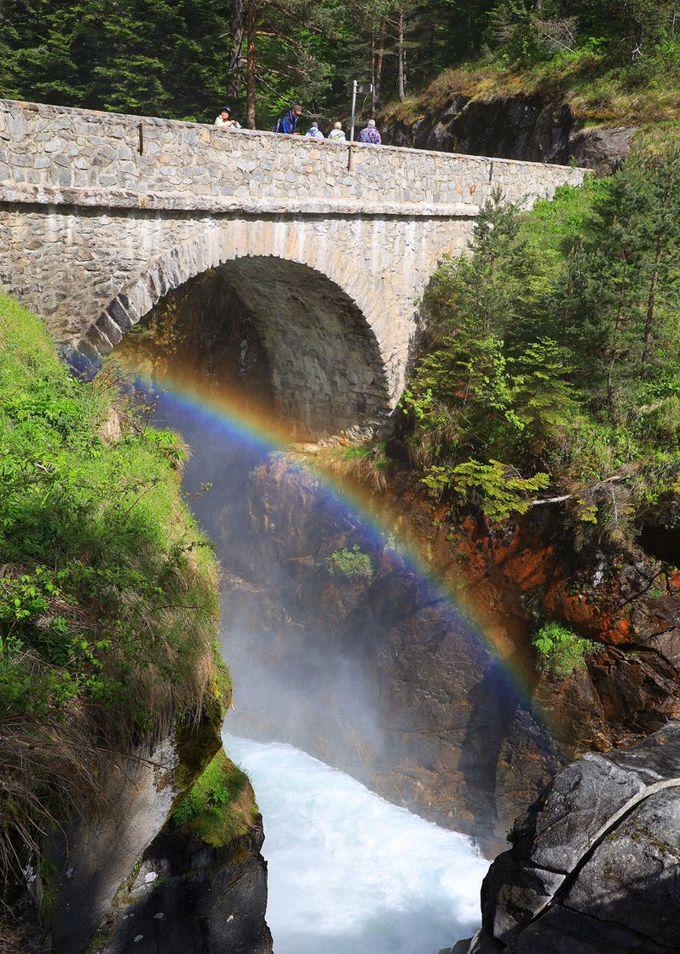 スペイン橋と滝の雄姿を楽しむ!