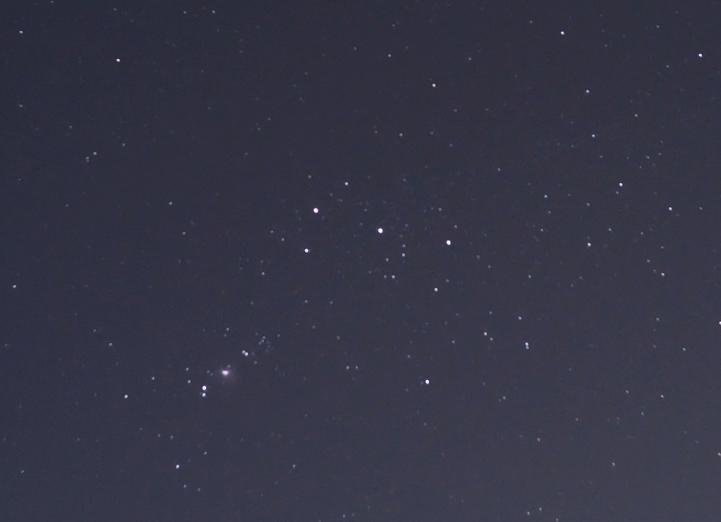 ナガルコットから見る月と星