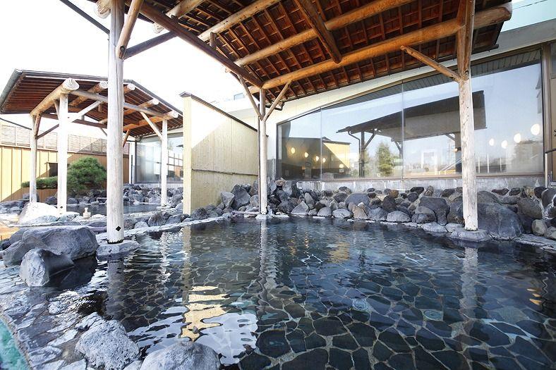 時之栖の温泉その1・天然温泉気楽坊は種類が豊富です