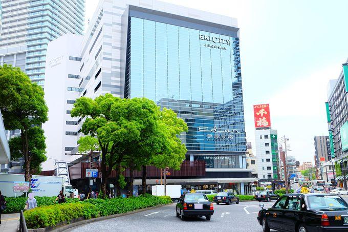 エキシティ・ヒロシマは広島駅南口出てすぐ左