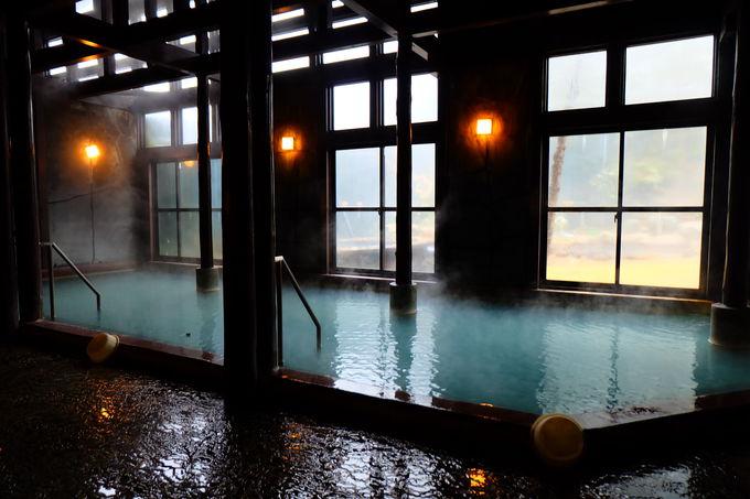 ほんのり硫黄香るお湯と開放感あふれる露天風呂