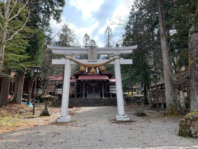 平湯温泉の発見に導いた白猿を祀る「平湯神社」