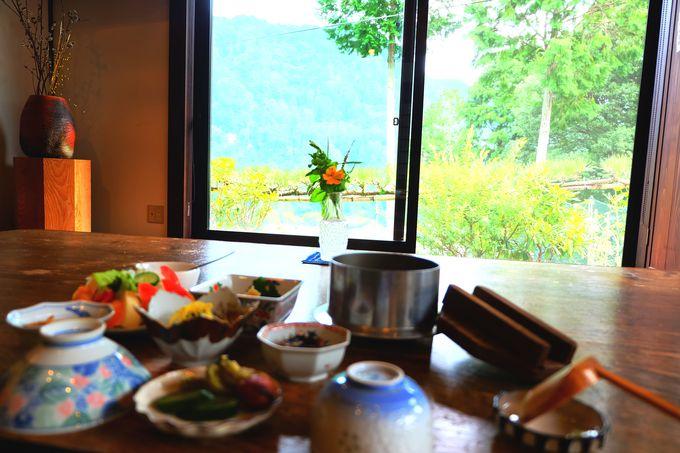 体に優しい食事と贅沢な景観
