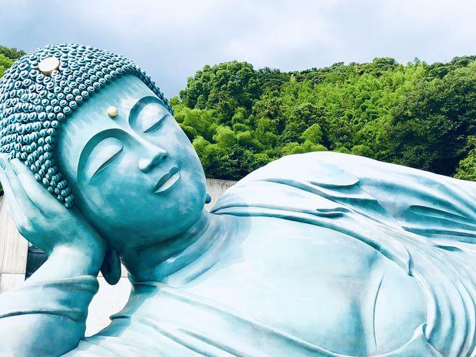 世界一の巨大な釈迦涅槃像は間近でも、遠くからでも必見!