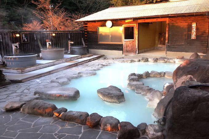 家族湯、露天、岩風呂、箱蒸し…バラエティ豊かなお風呂が楽しめる